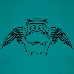 loving good friendly cute angel sacred halo wings  T-Shirts - Men's T-Shirt