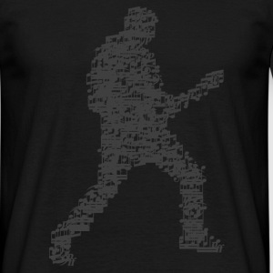 guitar_player_notes_09201601_grau T-Shirts - Männer T-Shirt