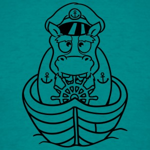 captain sailor boat ship deck cap anchor sailing d T-Shirts - Men's T-Shirt
