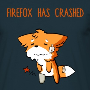 Navy Firefox has crashed funny T-Shirts - Männer T-Shirt