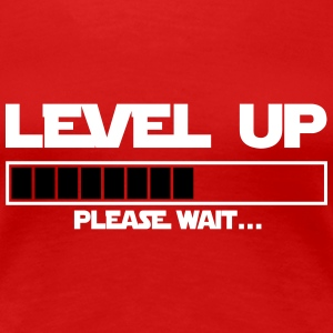 level up please wait Tee shirts - T-shirt Premium Femme