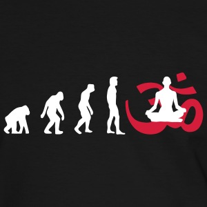 Evolution Yoga Buddhismus Meditation Pullover - Männer Kontrast-T-Shirt