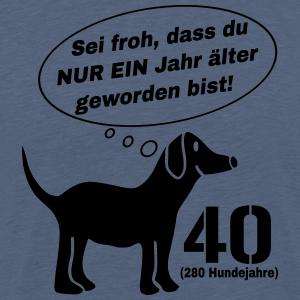 """Geburtstag T-Shirts mit """"Hund 40 Jahre"""""""