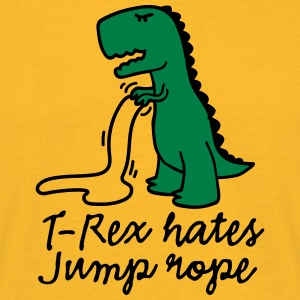 T-Rex hates jump rope T-Shirts - Men's T-Shirt