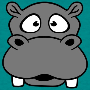face head hippo small thick sweet cute comic carto T-Shirts - Men's T-Shirt