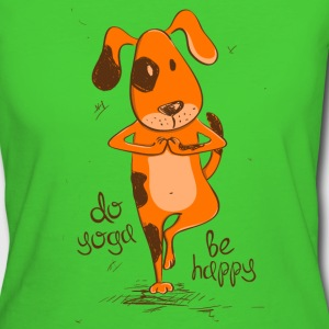 yoga dog  T-shirts - Vrouwen Bio-T-shirt
