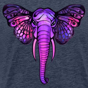 Space elephant, butterfly ears, galaxy, africa, T-Shirts - Men's Premium T-Shirt