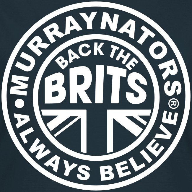 Back The Brits. Ladies T. Navy Blue