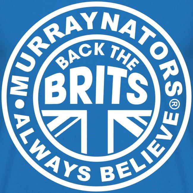 Back The Brits. Mens T. Blue