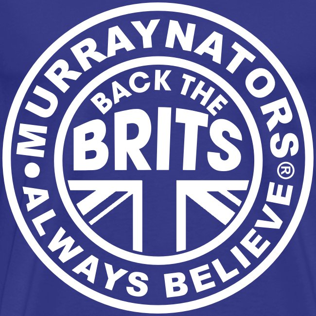 Back The Brits. Mens T. Blue. Large Sizes.