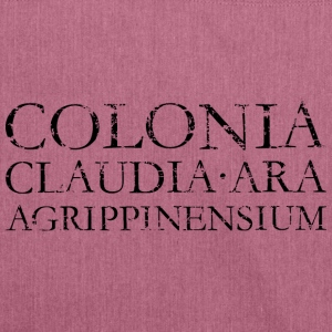 COLONIA CLAUDIA ARA AGRIPPINENSIUM (Vintage Schwar - Schultertasche aus Recycling-Material