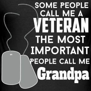 veteran grandpa T-Shirts - Men's Slim Fit T-Shirt