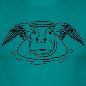 angel wings sweet good halo ring death hippopotamu T-Shirts - Men's T-Shirt