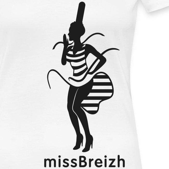 col rond missBreizh noir pailleté - grande taille