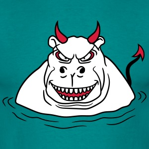 evil demon satan devil hell hippopotamus thick wat T-Shirts - Men's T-Shirt
