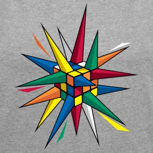 Rubik's Spiky Cube - Women's T-shirt with rolled up sleeves
