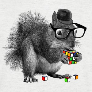 Rubik's Squirrel - T-skjorte med V-utsnitt for menn