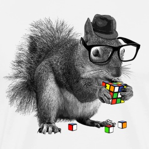 Rubik's Squirrel - Premium T-skjorte for menn