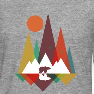 Heather grey Bear in the mountains Long sleeve shirts - Men's Premium Longsleeve Shirt