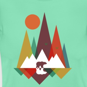 Menthe Bear in the mountains Tee shirts - T-shirt Femme