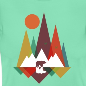 Donker munt Bear in the mountains T-shirts - Vrouwen T-shirt