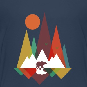 Navy Bear in the mountains Shirts - Teenage Premium T-Shirt