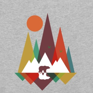 Gris jaspeado Bear in the mountains Manga larga - Camiseta de manga larga premium niño
