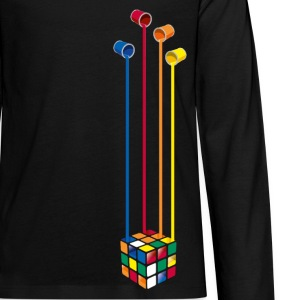 Rubik's Paint Buckets - Teenagers' Premium Longsleeve Shirt