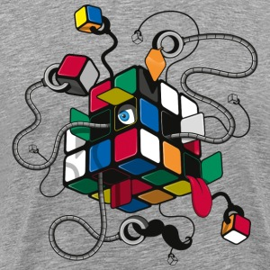 Rubik's Illustrated Cube - Premium T-skjorte for menn