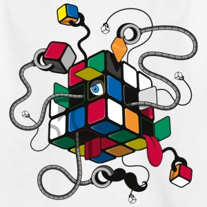 Rubik's Cube Illustration - Kinder T-Shirt