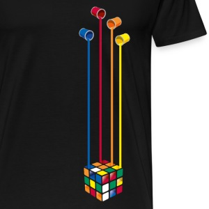 Rubik's Paint Buckets - Premium T-skjorte for menn