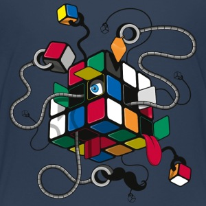 Rubik's Illustrated Cube - Premium-T-shirt tonåring