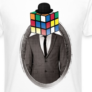 Rubik's Cube Portrait - T-shirt long homme