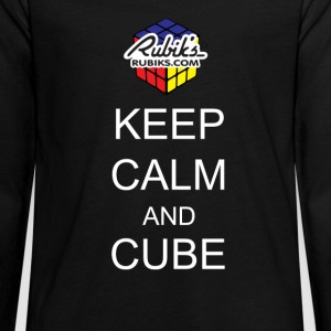 Rubik's Keep Calm - Teenagers' Premium Longsleeve Shirt