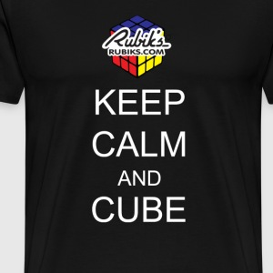 Rubik's Keep Calm - Premium T-skjorte for menn