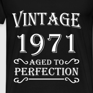 Vintage 1971 - Aged to perfection T-shirts - Herre premium T-shirt