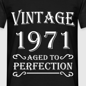 Vintage 1971 - Aged to perfection T-shirts - Mannen T-shirt