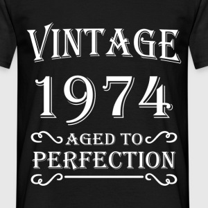 Vintage 1974 - Aged to perfection Camisetas - Camiseta hombre
