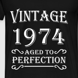 Vintage 1974 - Aged to perfection T-shirts - Herre premium T-shirt