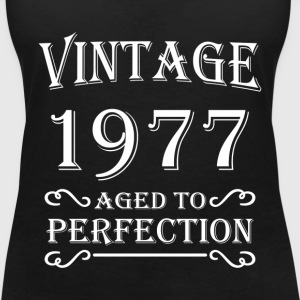 Vintage 1977 - Aged to perfection T-shirts - T-shirt med v-ringning dam