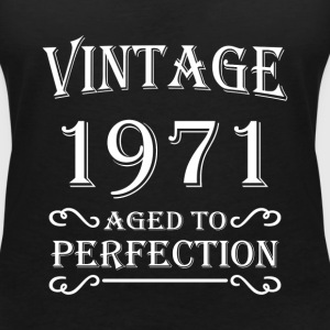Vintage 1971 - Aged to perfection T-shirts - T-shirt med v-ringning dam