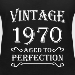 Vintage 1970 - Aged to perfection Camisetas - Camiseta con escote en pico mujer