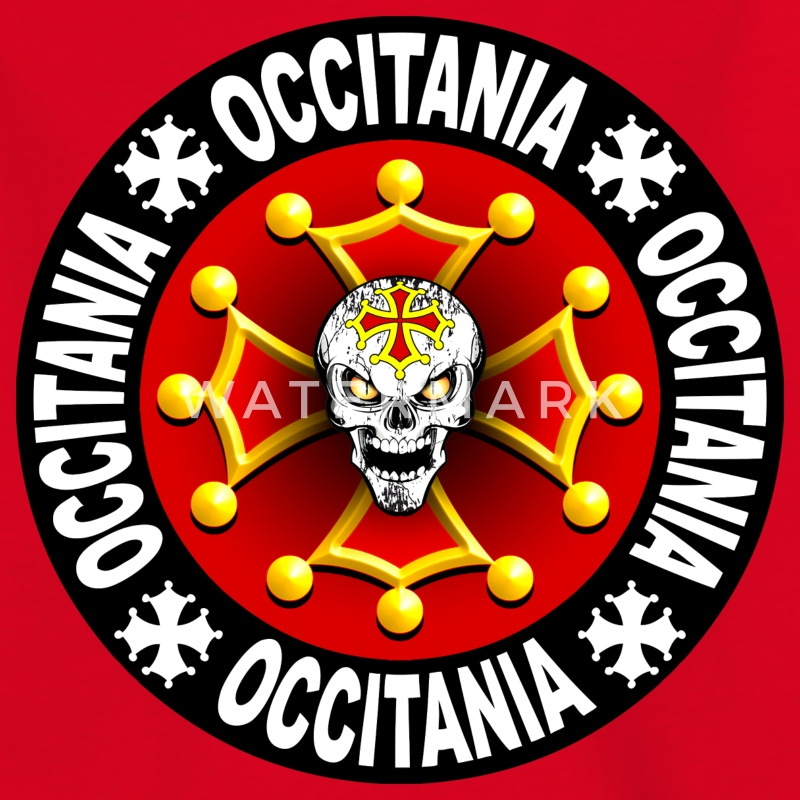occitania skull cross 06 Tee shirts - T-shirt Enfant