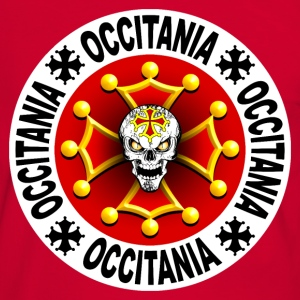occitania skull cross 07 Tee shirts - T-shirt contraste Homme