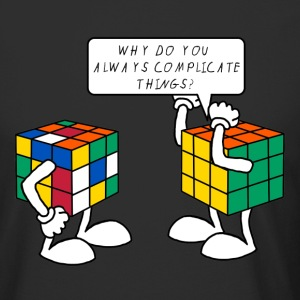 Rubik's Why ? - Urban lang T-skjorte for menn