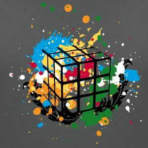 Rubik's Splatter Cube - Women's V-Neck T-Shirt