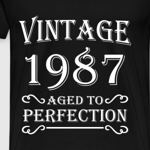 Vintage 1987 - Aged to perfection T-shirts - Herre premium T-shirt