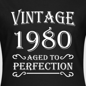 Vintage 1980 - Aged to perfection T-shirts - Dame-T-shirt