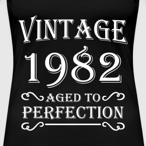 Vintage 1982 - Aged to perfection T-shirts - Dame premium T-shirt