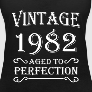Vintage 1982 - Aged to perfection T-shirts - T-shirt med v-ringning dam